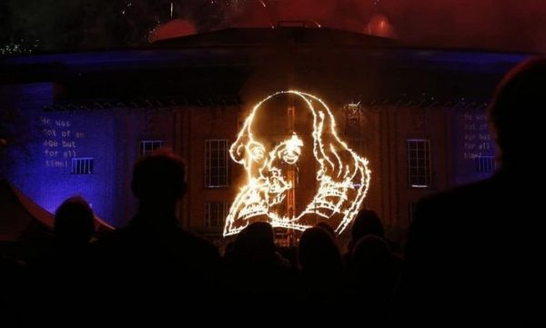William Shakespeare in a firework display
